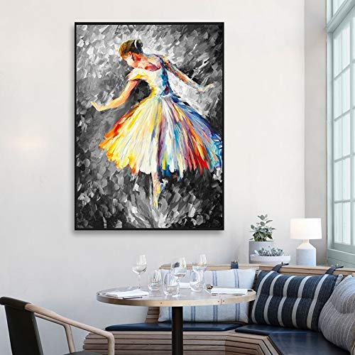 fdgdfgd Pintura al óleo Moderna Ballet Danza Cartel Impresiones en Lienzo niños Dormitorio imágenes decoración del hogar