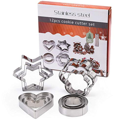 Biscuit Cookie Cutter Donuts Cutter Pastry Muffin Crumpets Sandwich Cutters Flower Round Heart Star Sharp Cookie Cutter Biscuit Brownie Cookie Cutters For Kids Vegetable Fruit Cutter Perfect Gift