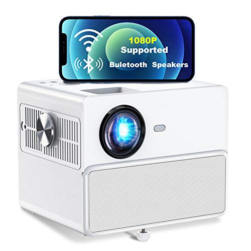 Towond Outdoor Movie Projectors, 6500LUX WiFi Home...