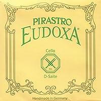 Pirastro Eudoxa 4/4 Cello D String - Silver-Aluminum/Gut - 23.5(Light) Gauge [並行輸入品]