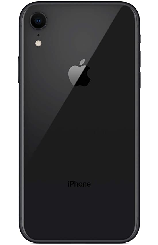 Apple iPhone XR, Fully Unlocked, 64 GB - Black (Renewed) tbv4029796792