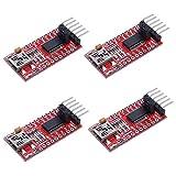 3.3V 5V FT232RL USB to TTL Serial Converter Adapter Module for Arduino 4 pcs