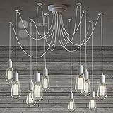 AMZH Mordern nórdico Retro Edison Bombilla Luz Vintage Lámpara Vintage Ajustable...