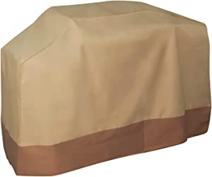 OxGord Large 71 Inch Barbeque Grill Cover - Outdoor Charbroil, Gas & Coal Grill Cover for Nexgrill, Webber, Broil King, Huntington and Other Popular Brands - Tan/Brown