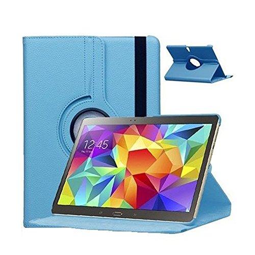 GlobalShop2016 &apos 360Degree Rotating Tablet Case for Samsung Galaxy Tab 410.1SM-T530T535 Funda + Protector blue