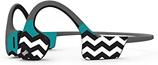 MightySkins Skin Compatible with Aftershokz Trekz Air Wireless - Teal Chevron | Protective, Durable, and Unique Vinyl Deca...