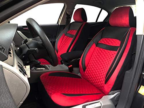 Sitzbezüge K-Maniac für Dodge Journey | Universal schwarz-rot | Autositzbezüge Set Vordersitze | Autozubehör Innenraum | Auto Zubehör Kunstleder | V2110449 | Kfz Tuning | Sitzbezug | Sitzschoner