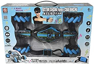 Crazy car toy 2 remote control wristwatch and remote - Blue
