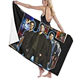 Custom made Supernatural Signature Poster Unisex Luxury Bath Towels, Soft Beach Towels for Pool/Swims Washcloths -Absorbent&Lightweight Microfiber Towel
