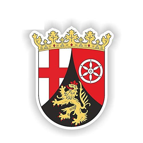 13cm x 10cm Rheinland Pfalz Aufkleber Deutschland Deutschland Wappen Stoßstange Aufkleber Autoaufkleber Wandtattoo Kinderzimmer