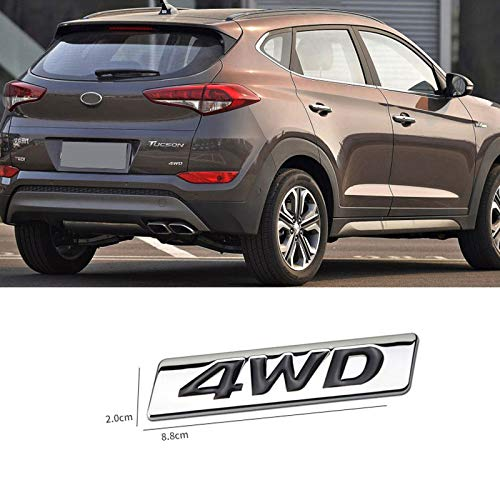 Gnnlor Für Hyundai IX25 IX35 New Tucson, Auto Allradantrieb Brief Logo 4WD 3D Metall Abzeichen Aufkleber Autodekoration Zubehör