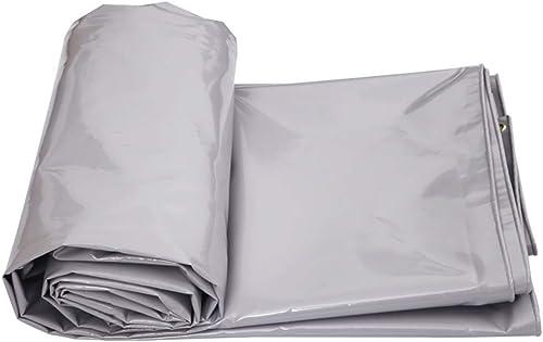 TAO Feuille de bache résistante imperméable de PVC de Toile de bache grise pour la Couverture de Piscine de Toit de Camping de Camion de Yard (Taille   2m×3m)