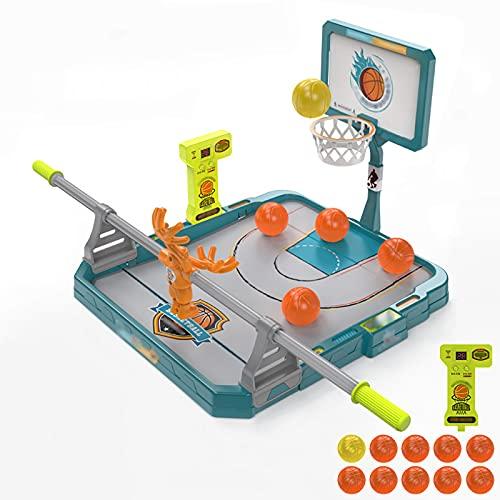 Juguetes De Los NiñOs, 1 Persona Disparar Una Canasta Escritorio Juegos De NiñOs con Bola De 10 Pcs Juego Limpio, DiseñO De Mango Desarrollar Inteligencia Juguetes NiñOs