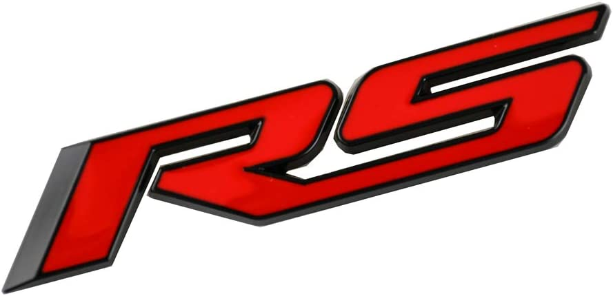 Black 1x Alloy Rs Decal Emblem Badge 3D Replacement for Camaro Series