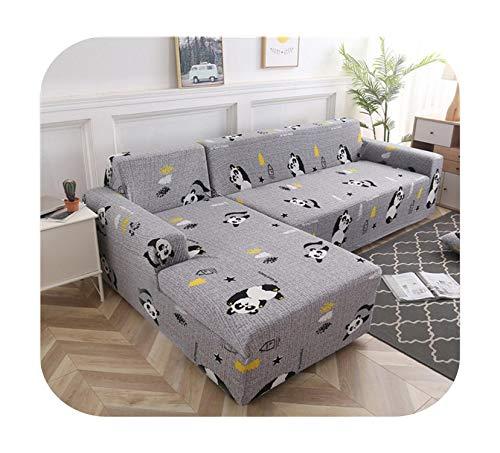 Sofabezug Geometrisch, 1/2-teilig, dehnbar, Set aus elastischem Sofaüberwurf für Ecksofa in L-Farbe 11-2-Seat und 2-Seat