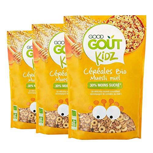 Good Goût Kidz - BIO - Lot de 3 sachets Céréales Muesli Miel 300g dès 3 ans - Lot de 3