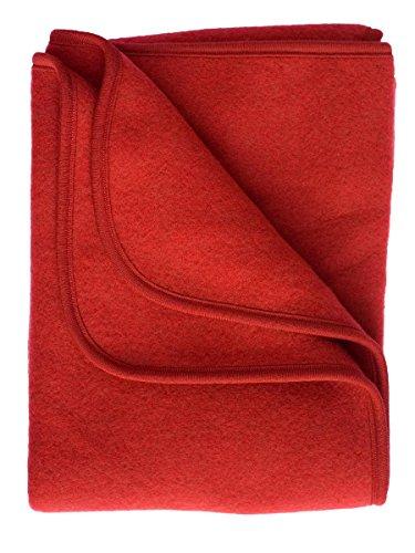 Engel, Coperta da bambino, in pile, dimensioni 80x 100cm, lana vergine biologica Rot Melange taglia unica