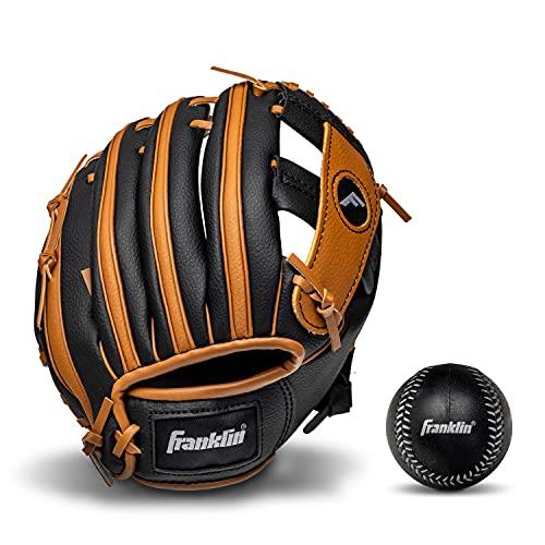 Franklin Sports Kids Baseball Gloves - RTP Child's Tball Glove + Ball...