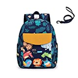 willikiva Cute Zoo Little 2d Backpack Kid Backpacks for Girls and Boys Toddler Backpack Waterproof Preschool Safety Harness Leash(Zoo)