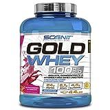 Gold Whey 100% | Mezcla de proteína de suero de leche aislada, concentrada e hidrolizada | Proteína en polvo con aminoácidos para el desarrollo muscular | 2 kg (Fresa con nata)