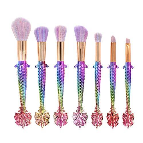 Maquillage Pinceaux Set Cosmétique Pinceaux Conceler Kit Outil 7PCS Maquillage Fondation Sourcils Eyeliner Blush Correcteur Brosses Pinceaux à maquillage LTJHHX (Color : 02, Size : Libre)
