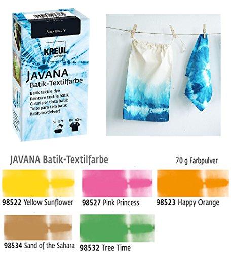 Batikfarben Set, 5 Batik Textilfarben im Set, helle Farben