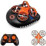 EACHINE E016F Boot Drohne Ferngesteuertes Boot/Auto/Drohne Hovercraft Abnehmbar Amphibious Spielzeug Mini Drohne für Kinder RC Multifunktional Boot (Classic_Edition)
