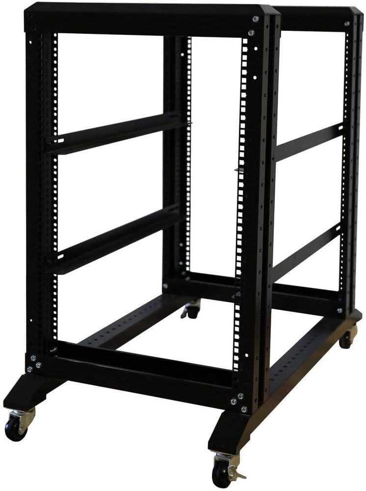 RAISING ELECTRONICS 15U 4 Post Open Frame 19inch Server/Audio Steel Rack 31inch Deep
