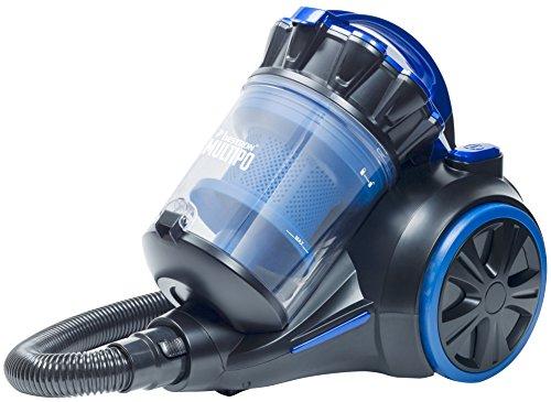Bestron Beutelloser Multi-Zylkon-Staubsauger Multipo Plus, Aktrionsradius: 7 m, Kapazität: 2 l, 700 Watt, Schwarz/Blau