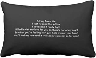 Emvency Throw Pillow Cover I Miss You Decorative Pillow Case Family Home Decor Rectangle Queen Size 20x30 Inch Cushion Pillowcase
