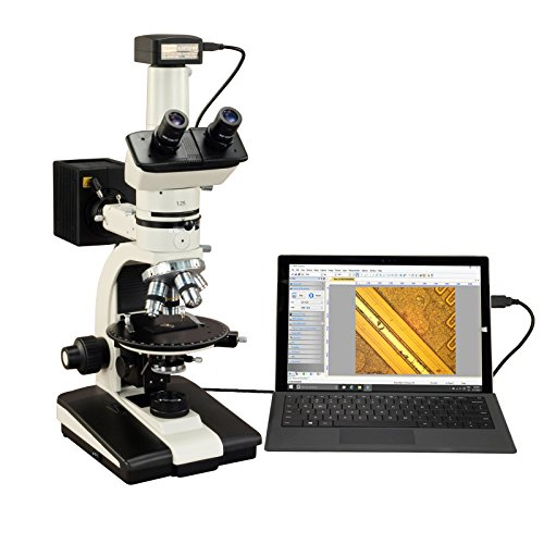 OMAX 50X-787.5X 5MP USB3.0 Trinocular Ore Petrographic Polarizing Microscope with Bertrand Lens