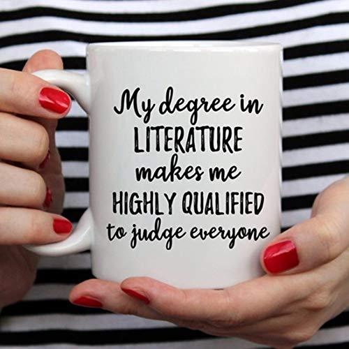 Regalo de literatura, taza de literatura, graduación de literatura, estudiante de literatura, taza de escritor, regalo de escritor, regalo para escritor