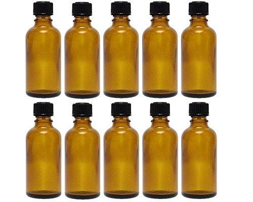 hocz 10 x 50 ml Tropfflasche Mini Glasflaschen mit Tropfeinsatz | Farbe Braunglas ✔ | Füllmenge: 50 ml ✔ | Apothekerflasche | Dosierung von Flüssigkeiten E-Liquids