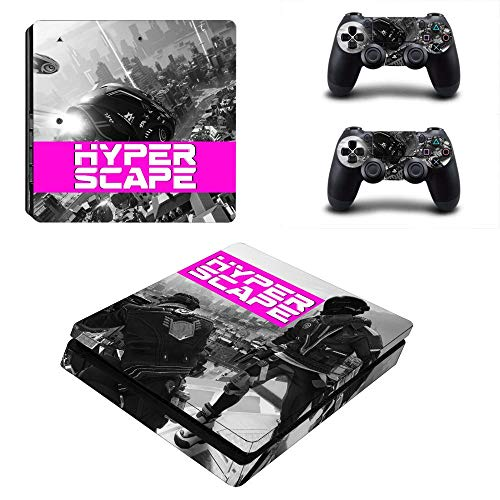 FENGLING Hyper Scape Ps4 Slim Stickers Playstation 4 Skin Sticker Decal Cover For Playstation 4 Ps4 Slim Consol & Controller Skins Vinyl