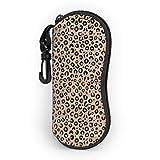 ARRISLIFE Ultraligero Estuche portátil para anteojos Bolsa de protección para gafas with Pinza de cinturón, Black Ivory Animal Print