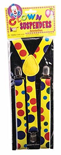 Forum Novelties X78235 Bristol Novelty 78235 Clown Hosenträger, Mehrfarbig, Einheitsgröße