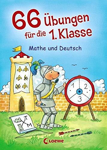 66 Übungen für die 1. Klasse - Mathe und Deutsch: Übungsblock für Grundschüler ab 6 Jahre
