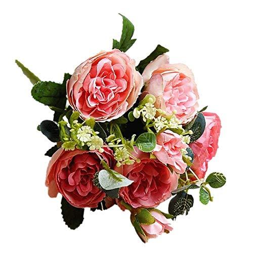 Zyf FAE Fake Flowers 30cm Rosada De Las Rosas De Seda Artificial Peony Florece El Ramo For Inicio De Boda Decoración De Interiores (Color : 3, Size : As The Picture Shows)