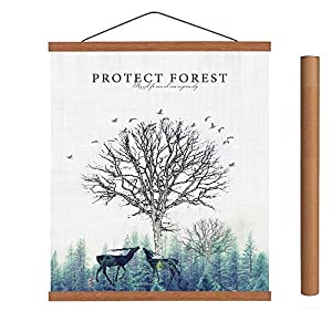 Arthome - Marco para colgar póster de teca en blanco o negro, marcos magnéticos de madera clara, diseño de póster de madera para impresión artística o lienzo (teca, 84 cm de A0)