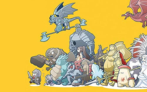 Dark Souls Poster de jeux vidéo Capra Demon Sif The Great Grey Wolf 30,5 x 45,7 cm (Multicolore)