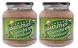 Crunchy Haselnuss Creme Salzig im 2er Pack | Brotaufstrich | Nusscreme | 71% Haselnuss | Gluten Frei | Ohne Transfette & Palmöl & Farbstoffe & Gentechnik | Vegan | Ohne Konservierungsstoffe | 2x...