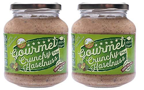 Crunchy Haselnuss Creme Salzig im 2er Pack | Brotaufstrich | Nusscreme | 71% Haselnuss | Gluten Frei | Ohne Transfette & Palmöl & Farbstoffe & Gentechnik | Vegan | Ohne Konservierungsstoffe | 2x 300g