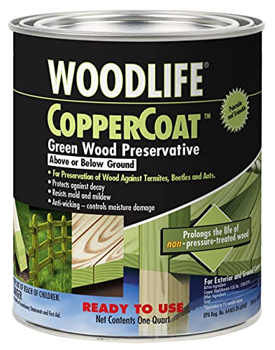 Rust-Oleum 1904A Wolman (Woodlife) CopperCoat Green Wood Preservative-Below Ground, Quart