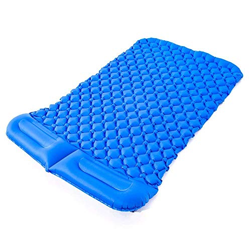 JIAMING Air Cushion King Size Bed Inflatable Cushion Outdoor Tent Sleeping Mat Double TPU Ultra Light Portable Mat Camping Camping Mat Camping Air Bed (3 Colors) blow up bed (Color : C