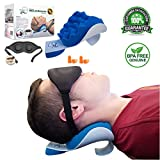 NeckZen Neck and Shoulder Relaxer and Revitalizer - Best Stiff Neck and Shoulder Chiropractic Support Pillow...