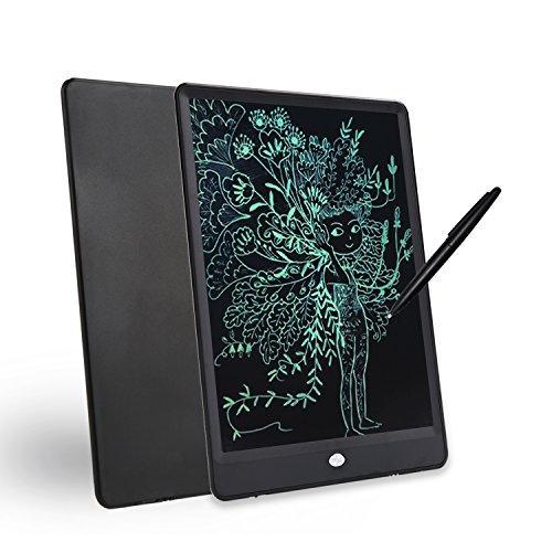 10-inch Environmental Friendly LCD Writing pad, Portable Digital Drawing Board, Message memo Electronic Tablet. Black. Orange (Black)