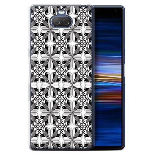 eSwish telefoonhoesje/Cover/Skin/SXP-GC/Black Fashion Collection Sony Xperia 10 2019 Symmetrie Tegels
