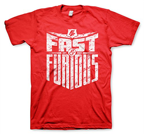 Fast & Furious - EST. 2007 Official T-Shirt (Red), Medium
