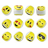 Srenta Assorted Styles Cute Emoji Kickball Hacky Sack Party Balls, Kick Balls, Foot Bags, Great Party Favor, Pack of 12