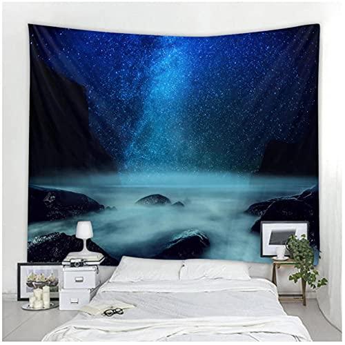 BD-Boombdl Tapiz de cielo estrellado hermoso universo arte decorativo de pared cielo colgante de pared muebles para el hogar 59.05'x78.74'Inch(150x200 Cm)